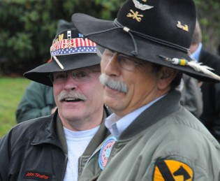 The Vietnam Helicopter Pilots Association march in the Auburn Veteran's Day Parade November 8th, 2008