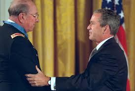 Ed Freeman with Bush 2