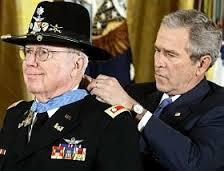 Ed Freeman with Bush